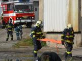 Složky IZS procvičovaly zásah u požáru s výskytem nebezpečné látky (69)