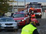 Složky IZS procvičovaly zásah u požáru s výskytem nebezpečné látky (103)