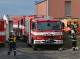 Složky IZS procvičovaly zásah u požáru s výskytem nebezpečné látky (87)