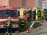 Složky IZS procvičovaly zásah u požáru s výskytem nebezpečné látky (89)