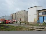 Složky IZS procvičovaly zásah u požáru s výskytem nebezpečné látky (91)