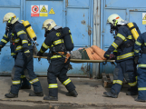 Složky IZS procvičovaly zásah u požáru s výskytem nebezpečné látky (98)