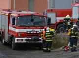 Složky IZS procvičovaly zásah u požáru s výskytem nebezpečné látky ()