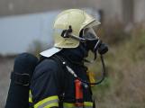 Složky IZS procvičovaly zásah u požáru s výskytem nebezpečné látky (15)
