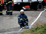 Složky IZS procvičovaly zásah u požáru s výskytem nebezpečné látky (17)