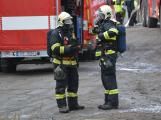 Složky IZS procvičovaly zásah u požáru s výskytem nebezpečné látky (19)