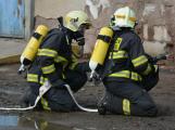 Složky IZS procvičovaly zásah u požáru s výskytem nebezpečné látky (20)