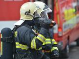 Složky IZS procvičovaly zásah u požáru s výskytem nebezpečné látky (21)