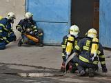 Složky IZS procvičovaly zásah u požáru s výskytem nebezpečné látky (25)