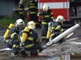 Složky IZS procvičovaly zásah u požáru s výskytem nebezpečné látky (2)