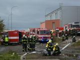 Složky IZS procvičovaly zásah u požáru s výskytem nebezpečné látky (5)