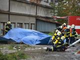 Složky IZS procvičovaly zásah u požáru s výskytem nebezpečné látky (9)