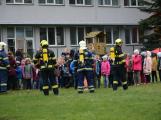 Složky IZS procvičovaly zásah u požáru s výskytem nebezpečné látky (46)
