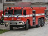 Složky IZS procvičovaly zásah u požáru s výskytem nebezpečné látky (50)