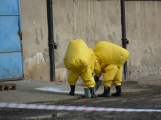 Složky IZS procvičovaly zásah u požáru s výskytem nebezpečné látky (31)