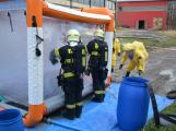 Složky IZS procvičovaly zásah u požáru s výskytem nebezpečné látky (34)