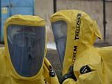 Složky IZS procvičovaly zásah u požáru s výskytem nebezpečné látky (35)