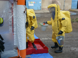 Složky IZS procvičovaly zásah u požáru s výskytem nebezpečné látky (36)