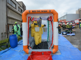 Složky IZS procvičovaly zásah u požáru s výskytem nebezpečné látky (38)
