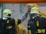 Složky IZS procvičovaly zásah u požáru s výskytem nebezpečné látky (39)