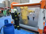 Složky IZS procvičovaly zásah u požáru s výskytem nebezpečné látky (40)