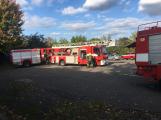 Hasiči vyjížděli k požáru dřevní štěpky v Bezděkově pod Třemšínem (14)