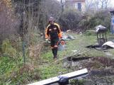 Zbytky zahradních domků u Čekalíkovského rybníka padly dnes k zemi (2)