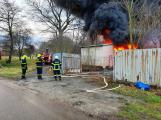 Požár v Sedlčanech napáchal škodu za dva miliony. Příčinou zahoření bylo samovznícení (12)