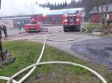Plameny pohltily budovu restaurace v kempu u Věšína, hasiči vyhlásili druhý stupeň poplachu (4)