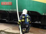 Na příbramském nádraží hoří vlak, škoda se vyšplhala na milion korun ()