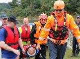 Hasiči a záchranáři cvičili na Orlické přehradě (3)