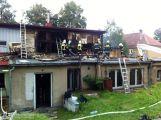 Požár bývalé sokolovny v Milínězpůsobil škodu asi 3,5 mil. Kč ()