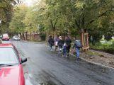 Ulice 28. října je již průjezdná, otestovali ji i školáci (3)