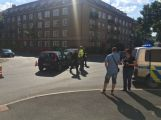 Dva vozy se srazily ve třídě Osvobození, od Edvarda Beneše je silnice uzavřená (1)