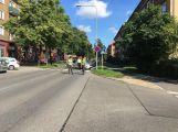 Dva vozy se srazily ve třídě Osvobození, od Edvarda Beneše je silnice uzavřená (2)