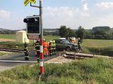 Další nehoda u Březnice. Na železničním přejezdu se srazil vůz s lokomotivou (3)