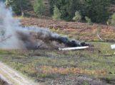 Složky IZS prověřily spolupráci u simulovaného pádu letadla v Brdech (18)