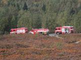 Složky IZS prověřily spolupráci u simulovaného pádu letadla v Brdech (24)