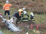 Složky IZS prověřily spolupráci u simulovaného pádu letadla v Brdech (1)