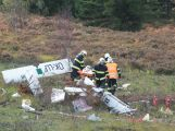 Složky IZS prověřily spolupráci u simulovaného pádu letadla v Brdech (4)