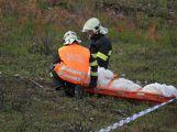 Složky IZS prověřily spolupráci u simulovaného pádu letadla v Brdech (8)
