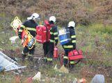 Složky IZS prověřily spolupráci u simulovaného pádu letadla v Brdech (9)