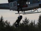 Složky IZS prověřily spolupráci u simulovaného pádu letadla v Brdech (10)