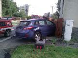 V Březnici se srazil závodní vůz s osobním ()