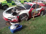 V Březnici se srazil závodní vůz s osobním (2)