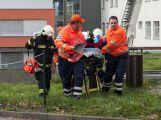 Záchranné složky dnes trénovaly zásah v nemocnici (7)