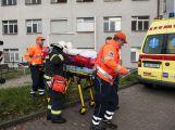 Záchranné složky dnes trénovaly zásah v nemocnici (8)