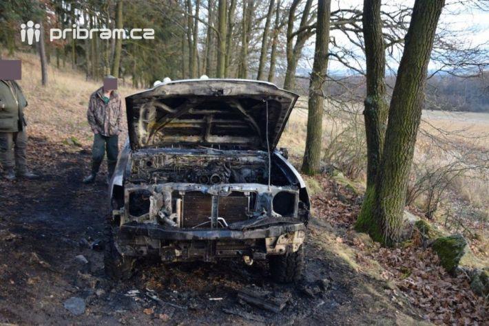 Požár terénního automobilu Ford Ranger …