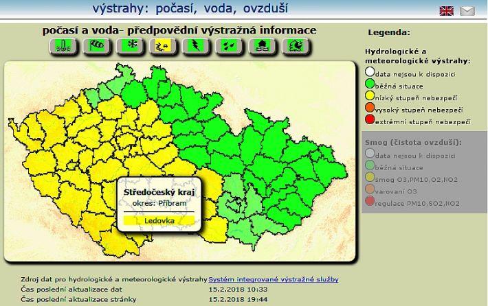 Předpověď počasí pro Středočeský kraj na noc a …