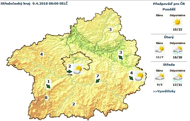 Předpověď počasí pro Středočeský …